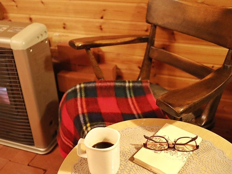 コーヒーとストーブ