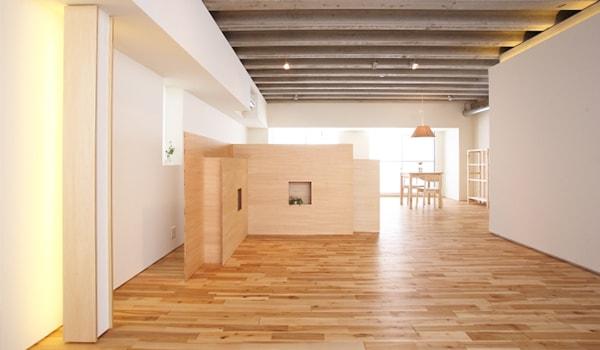 段差ないデザインの部屋