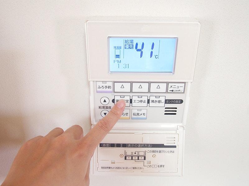 給湯器の温度設定
