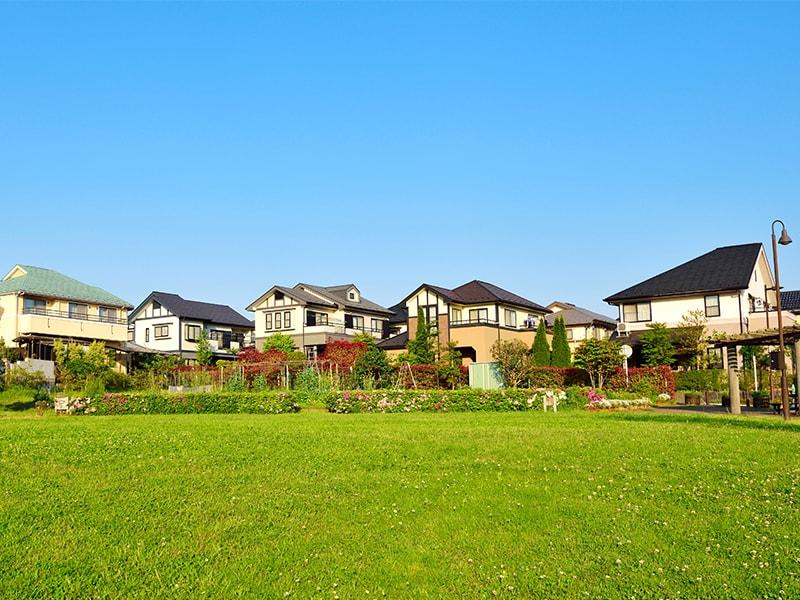 郊外の住宅街