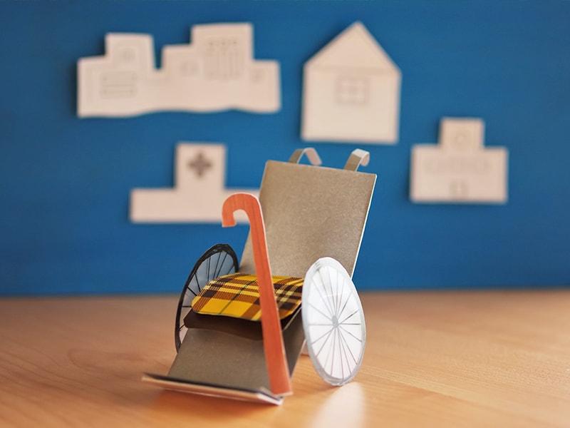 車椅子の模型